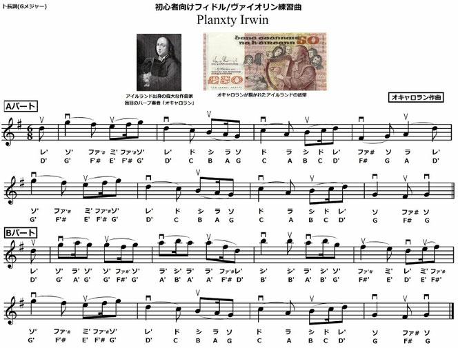 アイリッシュ音楽 フィドル 練習曲 楽譜