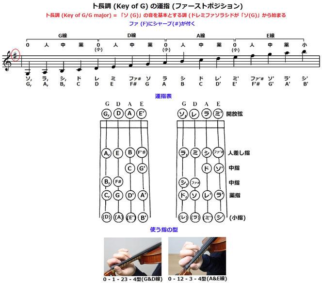 フィドル バイオリン 運指