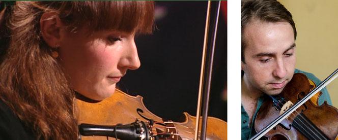 顎当てを使わない ヴァイオリン