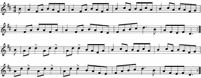 ケルト音楽 リール 楽譜