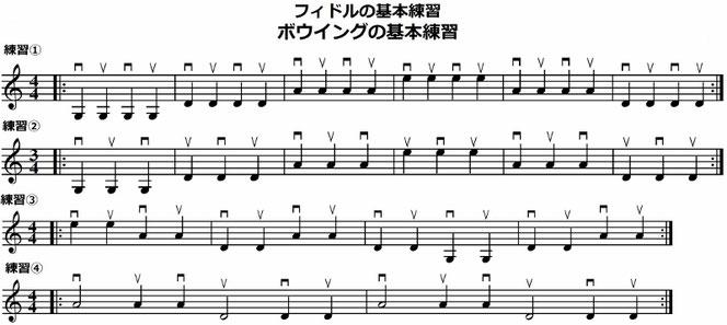 バイオリン 開放弦 基本 練習