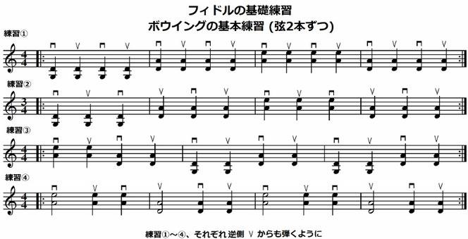 バイオリン ボウイング 重音 練習
