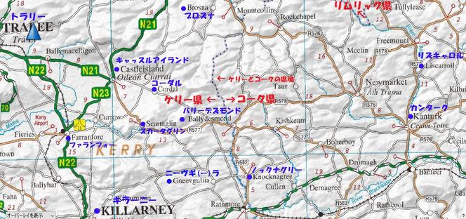アイルランド 地図 ケリー コーク