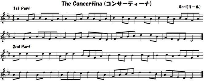 コンサーティーナ アイリッシュ音楽 楽譜