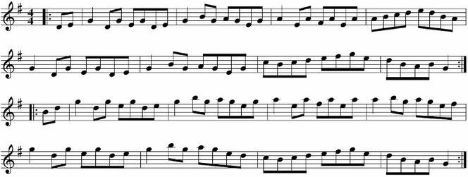アイリッシュ音楽 リール 楽譜