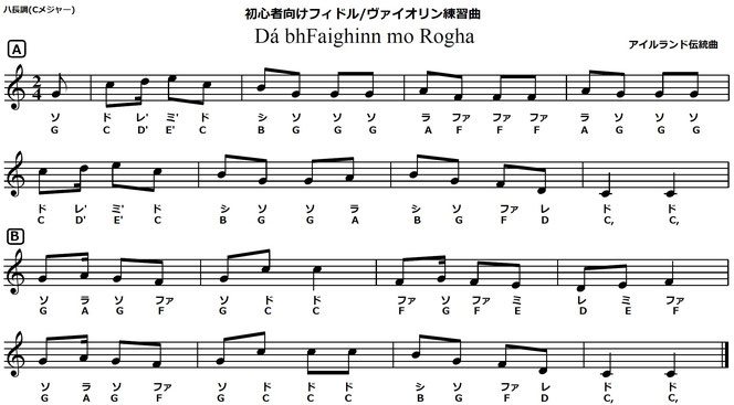 フィドル 初心者 練習曲