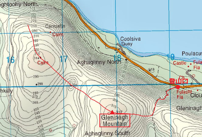 バレン高原ウォーキングマップ