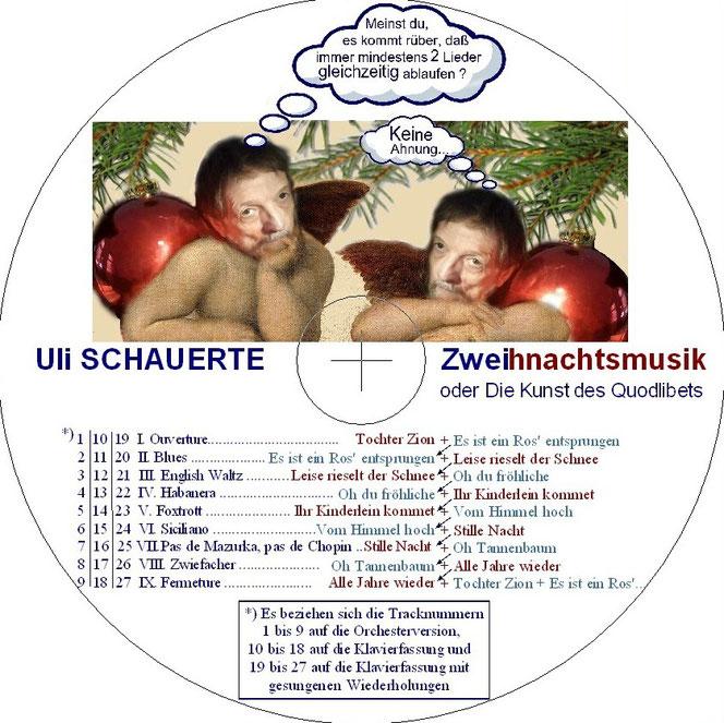 Der Aufdruck der CD, auf der alle drei Fassungen (Stand 2017) vereint sind...