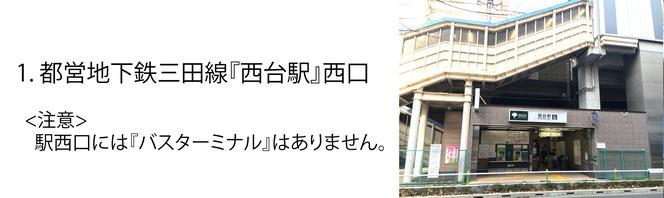 道案内1(西台駅)_山口眼科クリニック