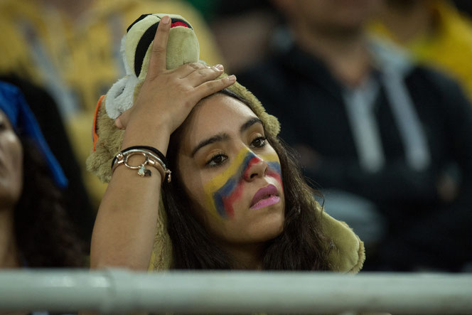 De l'ouverture du score de Kane aux pénos ratés d'Uribe et Bacca, en passant par l'égalisation de Mina et l'arrêt d'Ospina sur Henderson, l'ascenseur émotionnel était de sortie ce mardi. De façon absolument exacerbée
