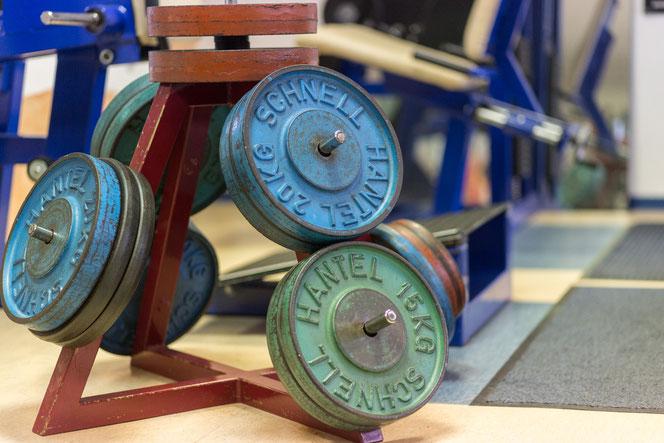 Gewichtsscheiben, SCHNELL Hantel, gym80, Fitnesstreff Hüttisch