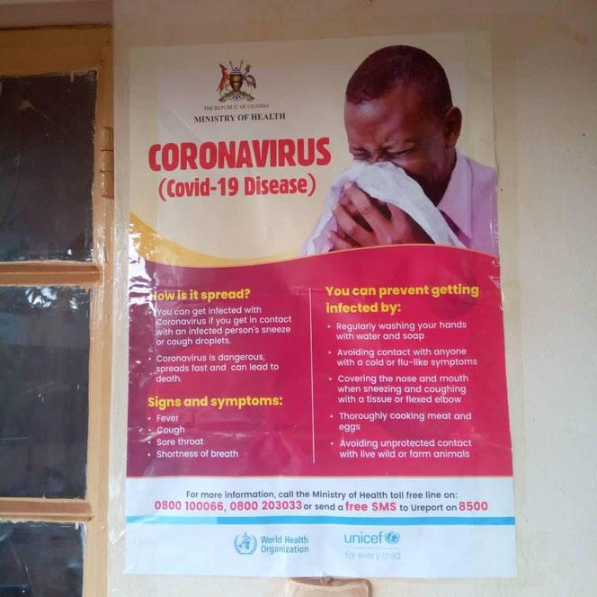 Plakat in Uganda