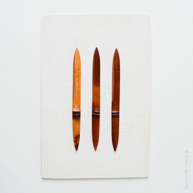煤竹菓子切り三景の組 No.4 竹工芸家 初田 徹 作