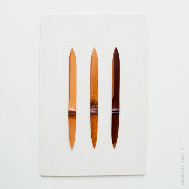 煤竹菓子切り三景の組 No.10 竹工芸家 初田 徹 作