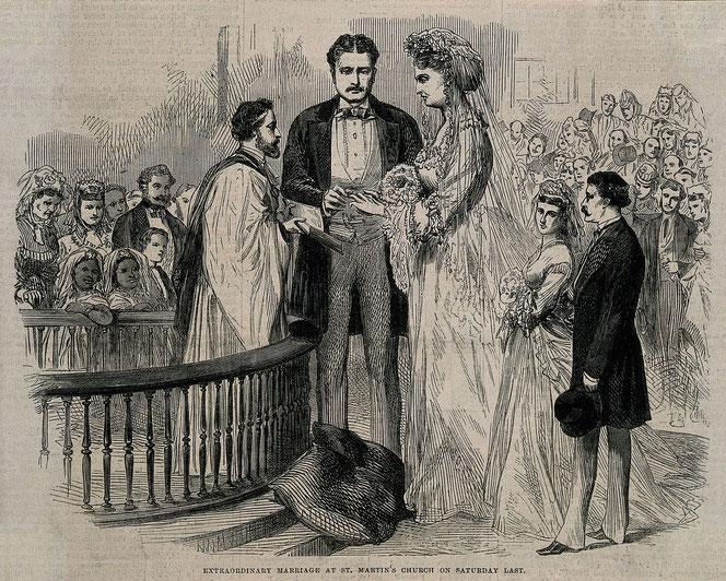 マーティン・ヴァン・ビューレン・ベイツとの結婚式の様子。