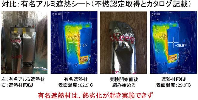 遮熱材FXJは高温対策不燃認定、腐食対策