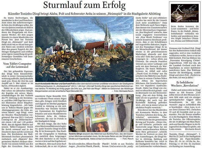 Passauer Neue Presse im Feuilleton (03.05.2017)
