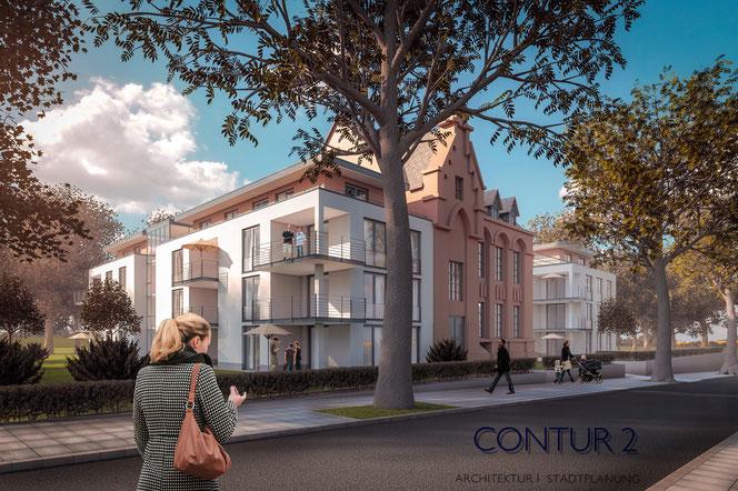 Visualisierung : Contur 2, Architektur, Stadtplanung Christiane Voigt