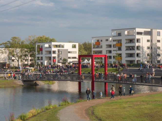 Der Niederfeldsee am Eröffnungstag (23.August 2014)