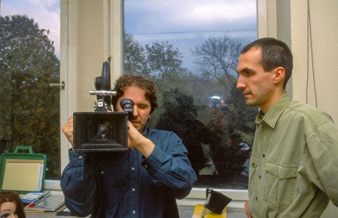 16mm-Kurs im Schloss Borbeck mit Peter C. Slansky, 1992