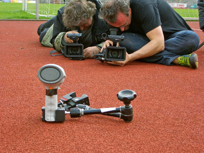 Vorbereitungen für den Kopfballdreh / Foto: Buckle Up-Productions