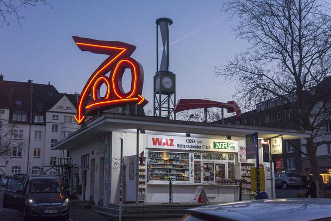 """""""Zoo"""" Albert Hien (1989), Kiosk am Rüttenscheider Markt"""