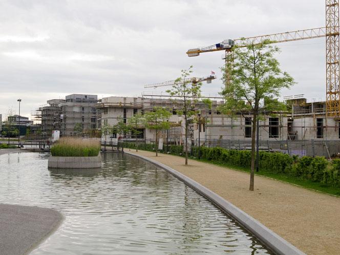 Mai 2012: Rohbauten im Universitätsviertel (Fotos oben und unten)