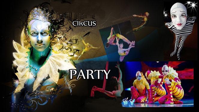 Fiesta tema Circo o circo du soleil
