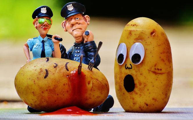 Blutiger Kartoffel-Mord (Foto: Pixabay)