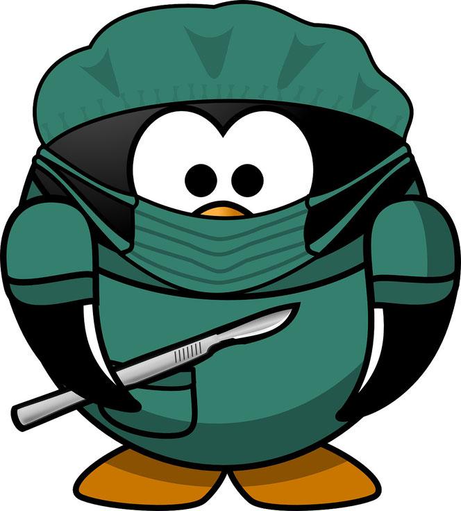 Der Doktor ist bereit für die OP (Foto: Pixabay)
