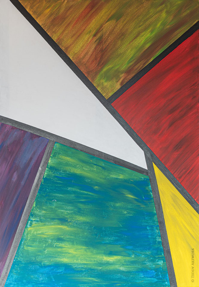 """Hourglass I"" 100 x 70 cm"