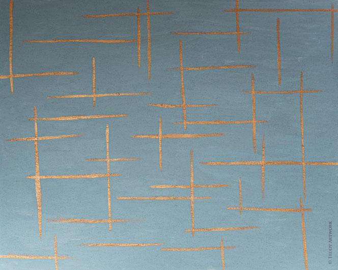 """Copper Lines II"" 80 x 100 cm"