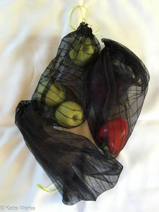 Selbstgenähte Gemüse- und/oder Obst-Beutel