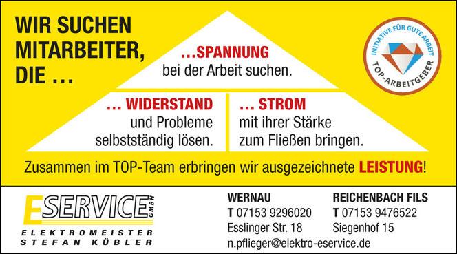 E Service Stefan Kübler GmbH - Ihr Elektriker aus Wernau: Wir suchen Mitarbeiter