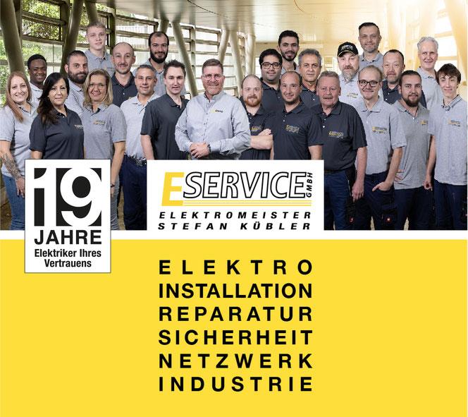 Das Team der E Service Stefan Kübler GmbH - Ihr Elektriker aus Wernau