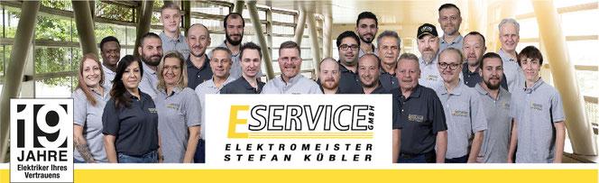 Ihr Elektriker aus Wernau: Teambild der E Service Stefan Kübler GmbH, der Spezialist für Elektro, Installation, Reparatur, Sicherheit, Netztwerk und Industrie
