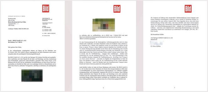 Unterlassungserklärung von BILD und Axel Springer