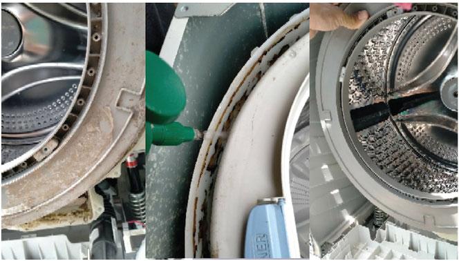 洗濯槽の分解クリーニング