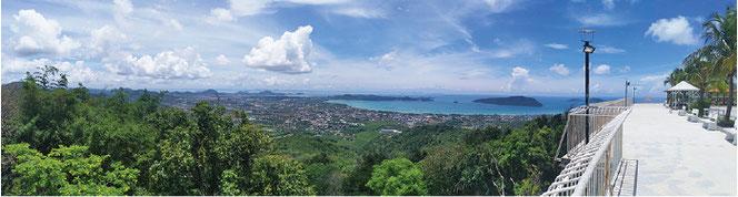 標高300mを超えるKhao Toot(山)からの眺め