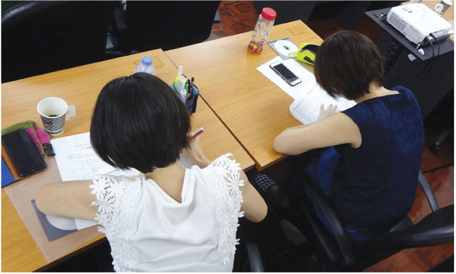 LSEアカデミーで日本語教師養成講座を受講する生徒さん