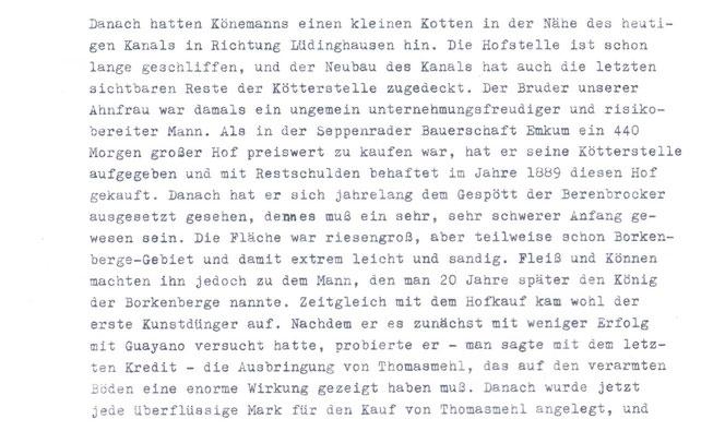 """""""Von Berenbrock 16 nach Häger 17"""", Ludger DAHLHAUS; S.265"""