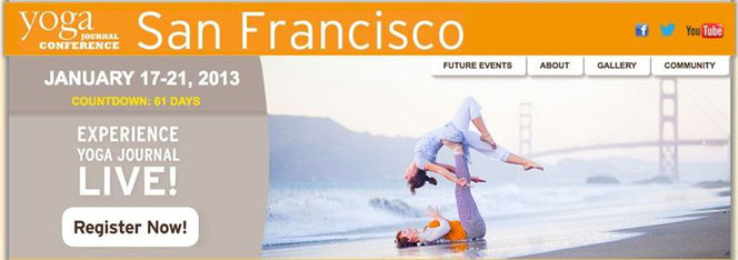✈✈✈ Almuth & Lucie im San Francisco Yoga Journal WARI.cat ✈✈✈