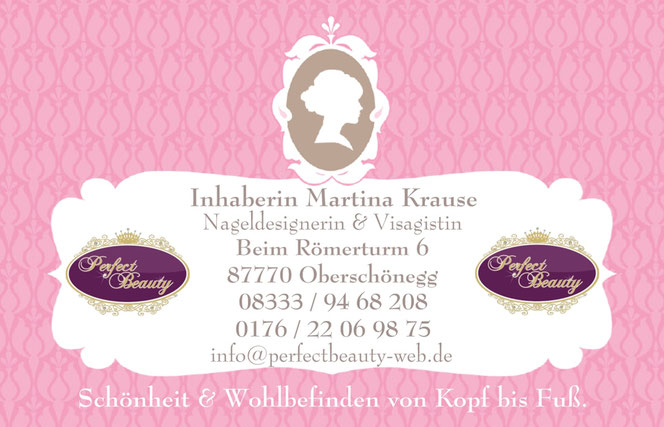 Visitenkarte Perfect Beauty, 87770 Oberschönegg, Martina Krause