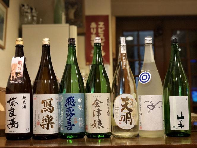 会津の地酒を豊富に揃えてお待ちしています。