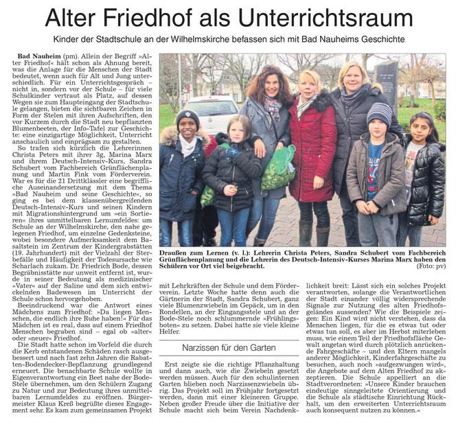 Wetterauer Zeitung vom21. Dezember 2018