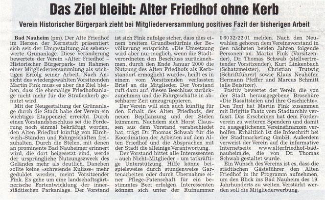 Wetterauer Zeitung vom  7. Juni 2011