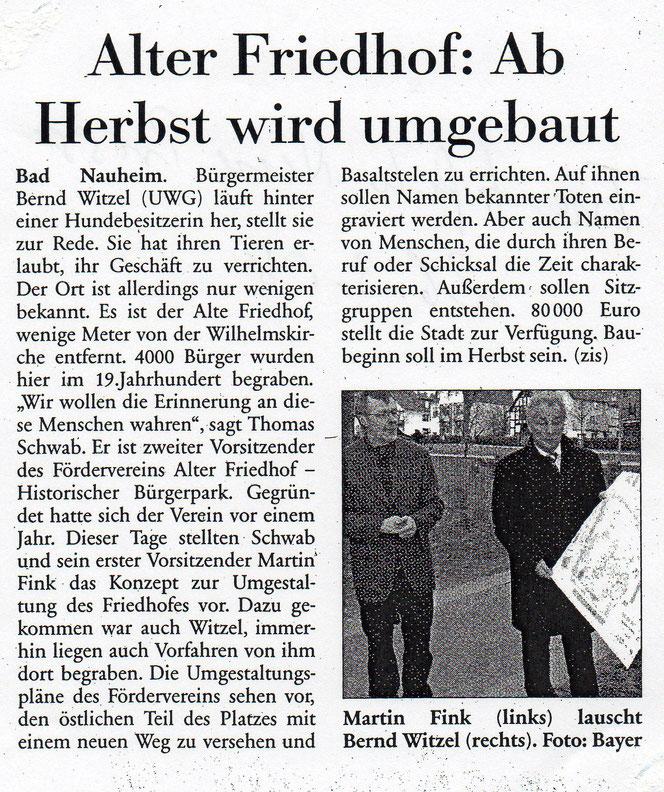 Wetterauer Zeitung vom 26. März 2008