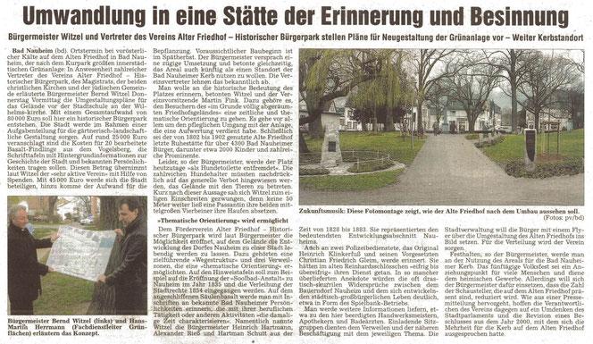 Wetterauer Zeitung vom 20. März 2008