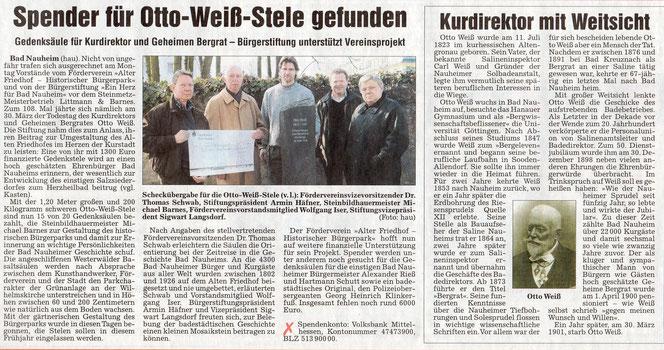 Wetterauer Zeitung vom 1. April 2009