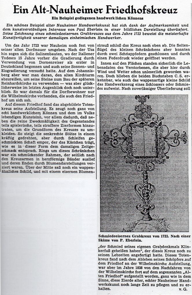 Wetterauer Zeitung vom 17. November 1959